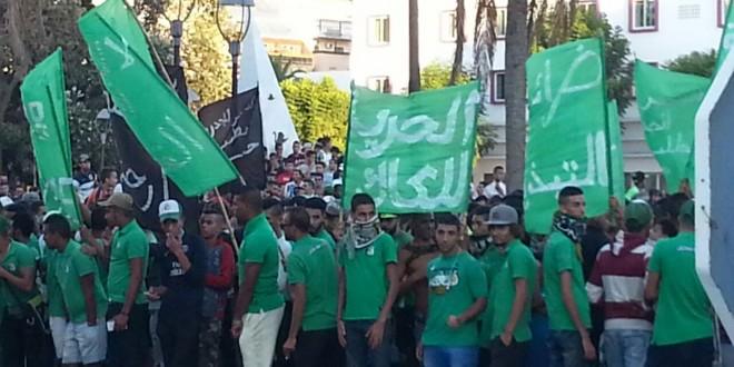 """القنيطرة..وقفة إحتجاجية لجمهور""""الكاك""""تنتهي بمخافر الشرطة"""