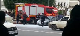 القنيطرة : حريق مهول مفاجىء بسيارة مالك مقهى وملهى لوفيلاج