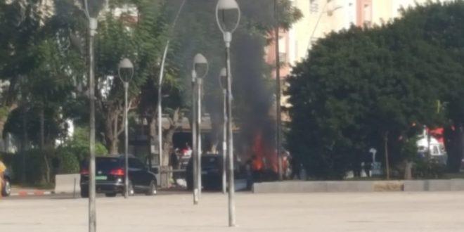 لقطات تصوير إنفجار مدوي خطير للفيلم الذي تصور أحداثه بمدينة القنيطرة